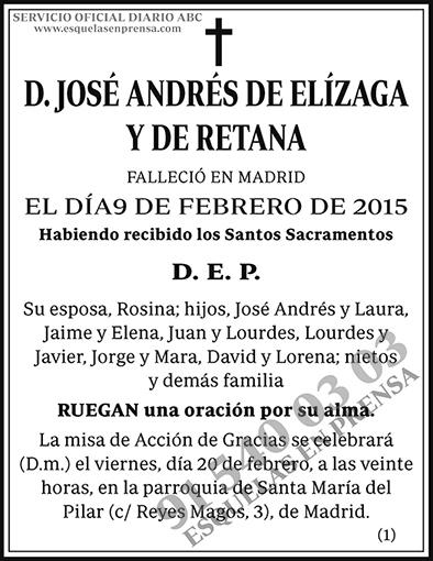 José Andrés de Elízaga y de Retana